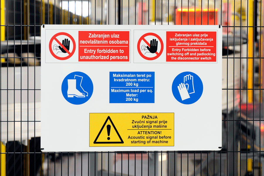 example of safety signs