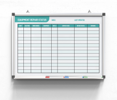 Equipment-repair-status-board-cyan